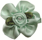 Handmade Satin Ribbon Flower Ribbon Bow with Decoration