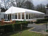 Big Aluminum Party Wedding Tent with White PVC Covers and Sidewalls