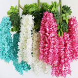 Artificial Wisteria Vine Ratta Hanging Garland Silk Flowers String Home Party Wedding Decor