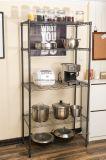 Multifunction 5 Tiers Cheap DIY Open Black Epoxy Metal Kitchen Pantry Storage Wire Rack