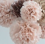 Wholesale Party Wedding Decor Hanging Tissue Paper Pompoms POM Poms