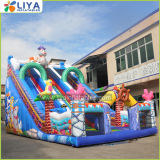 Large 2 Lanes Sea World Inflatable Slide for Adult and Kids