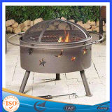 Big Size Deep Outdoor Wood Burning Fire Pit with Lattice Pattern