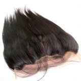 360 Lace Frontal Closure Wig Malaysian Human Hair Silky Straght Natural Hairline Lace Band Frontals with Baby Hair