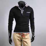 Hot Sale Black Fashion Cotton Polo Men T-Shirt