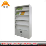 Popular Study or Library Metal Magazine Shelf with Cabinet Base