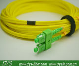 Sc APC Sm Duplex 3.0mm Fiber Optic Patch Cable