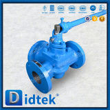 Didtek 100% Test Lever Operated 3 Way Sleeve Plug Valve