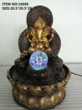 The New Southeast Asia Ganesh Fountain Flowing Water Furniture Resin Fountain Crafts Gift Factory Direct Sale