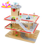 2019 New Design Educational Play Set Wooden Kids Car Garage with Customize W04b077