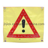 Solar LED Electric Yellow Road Traffic Safety Car Warning Triangle Sign