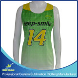 Custom Sublimation Girl's Lacrosse Race Back Reversible Top