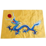 Cheap 210d Oxford Fabric Custom Embroidered Flags