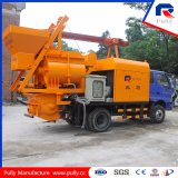 Pully Manufacture Latest Technology for Village, Road, Bridge Tunnel Construction Mobile Concrete Batching Truck Mounted Concrete Pump with Mixer (JBC40-L1)