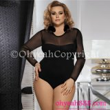 Pussy Cat Dolls Plus Size Teddy for Fat Women Sexy Lingerie for Honeymoon Black Babydoll