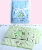 Animal Shape Embroidery PV Fleece Blanket for Baby