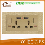Mf 13A Dual USB Electrical Wall Switch Socket Outlet