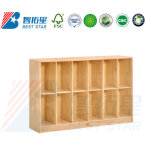 Children School Classroom Furniture, Preschool and Kindergarten Day Care Wood Book Cabinet, Kids Nursery Toy Storage Cabinet, Baby Storage Cabinet