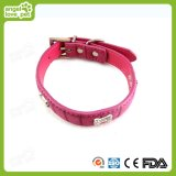High Quality Leather with Diamond Decoration Strap Collar