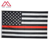 Wholesale Stock 3X5FT American Thin Red Line Fire Fighter Firefighter Flag Banner of USA