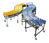 Steel/Plastic Skate Wheel Extendable Flexible Roller Conveyor/Assembly Line