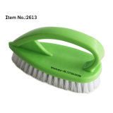 for Clothes Cleaning Blue Color Iron Shaped Plastic Scrub Brush