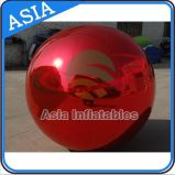 Colorful Inflatable 2m Red Mirror Ball for Outdoor Advertising