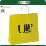 Yellow Printing Customized Paper Handle Gift Paper Bag