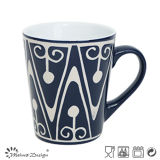 Homestyle Simple Silk Screen V Shape Mug