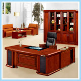 Modern Luxury Office Table Executive Desk Wooden Furniture with Side Table