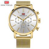 Mini Focus Gold Man Quartz Wrist Watch with Cheap Price