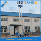 Double Masts Aluminum Aerial Work Platform with Capacity 200kgs