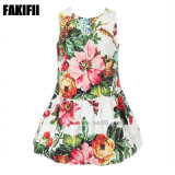ODM Customised Baby Apparel Fashion Girl Party Flower Dress Children Wears Wholesale Kids Summer Clothes