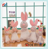 New Soft Bunny Plush Toy with Long Ears Soft Rabbit Doll Carton Design for Girls