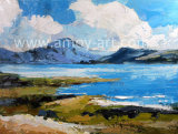 New Arrival Handmade Seascape Oil Painting by Palette Knife for Home Decoration