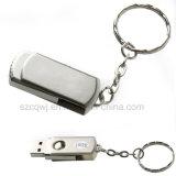 Metal Roating Memory Stick Pen Keychain USB Flash Drive