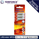 1.5V China Manufacture Digital Primary Alkaline Dry Battery (LR03-AAA 16PCS)
