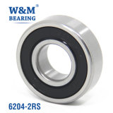6204 Electric Fan Motor Pump Deep Groove Ball Bearing