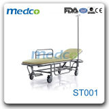 Hospital Stainless Steel Patient Transfer Cart Emergency Trolley
