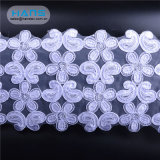 Hans Cheap Wholesale Fashion Beaded Stretch Lace Fabric