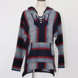 Ladies′ Hooded Pullover in Heavy Guage with Colorful Intarsia Design