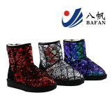 2016 Fashion Colorful Sequin Upper Snow Boots