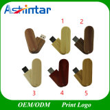 Wood USB Stick Thumbdrive Flash Memory Swivel USB Flash Drive