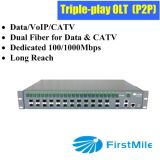 Triple-Play FTTH Olt for P2p Ethernet Solution