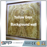 Luxury Yellow Natural Stone Onyx Interior Decoration & TV Background Wall