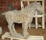 Imitation Antique Standing Marble Horse (SH339)