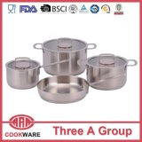 7PCS Cookware Set Stainless Steel Casserole Flat Glass Lid Cookware