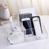 Transparent Acrylic Tissue Box Office Remote Control Cosmetic Mask Box