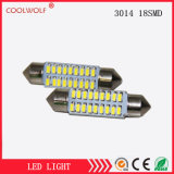 Manufacturer Direct-Selling Car Headlamp LED Work Light 3014 18SMD Double-Pointed LED Reading Lamp Light Meter 39mm