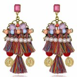 Exaggerated Design Fashion Girl Earrings Tassel Jewelry for Women